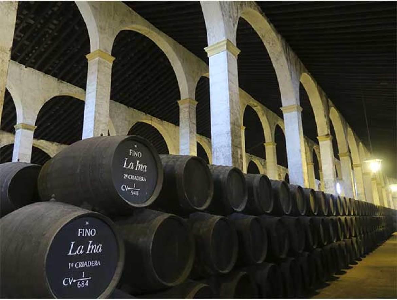 Concurso de cocteleria vinos de Jerez Bodegas Lustau interior bodega