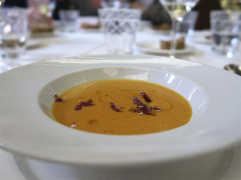 Menu de San Isidro del restaurante Paulino de Quevedo Sopas de Ajo