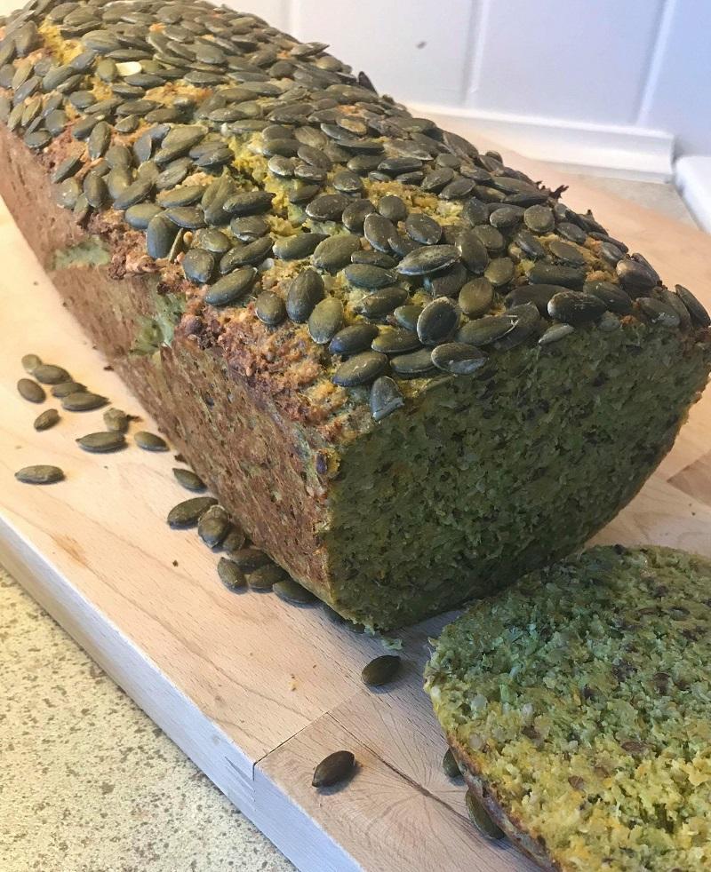 Glutenfri rugbrød med grøntsager
