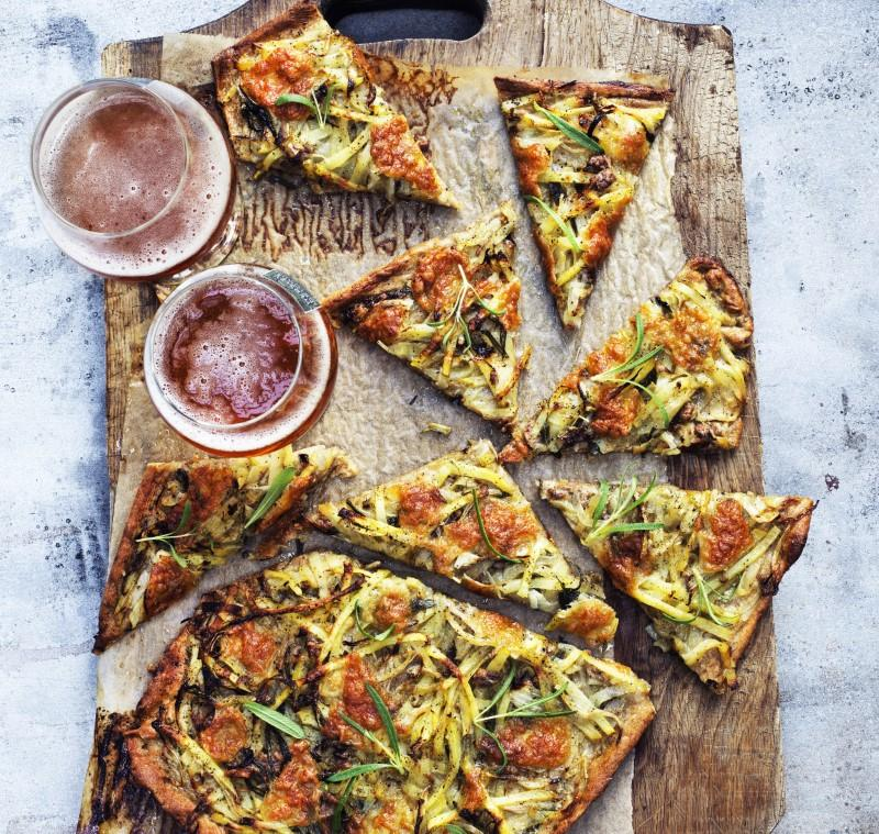Hvid pizza
