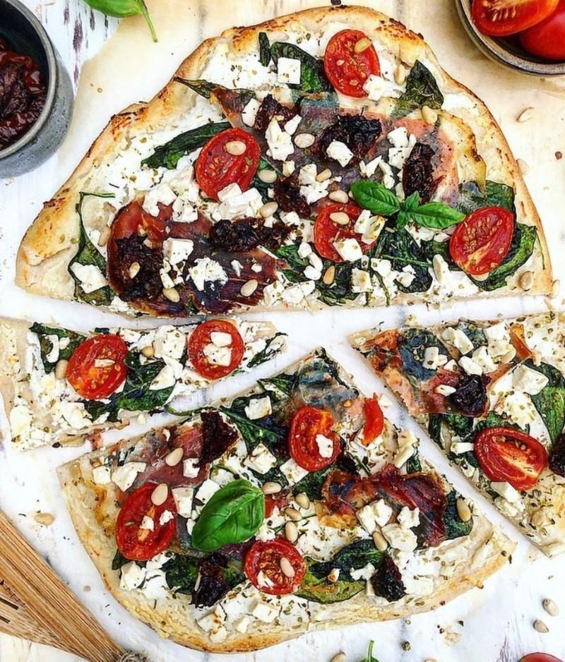 Pizza med ricotta