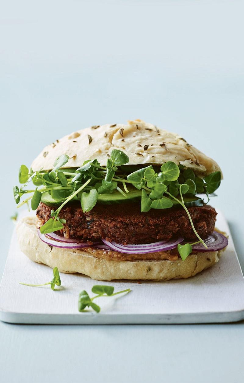 Vegansk grillet burger