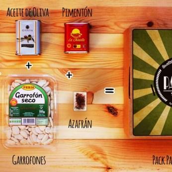 Pack Paella y pa'Él, auténtica Paella Valenciana con ingredientes gourmet - Regalos originales gourmet Gastroidea.com