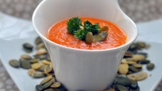Pumpkin and Lentil Puree Soup