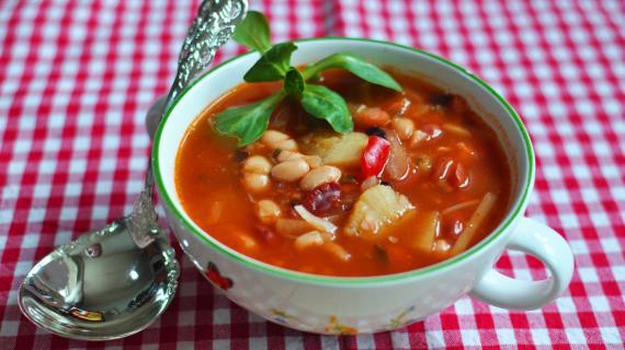 Lean Greek Fasolada Soup