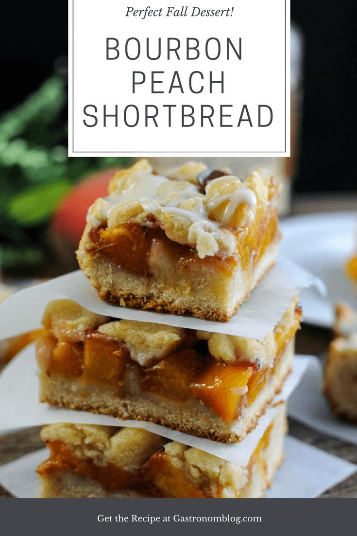 Bourbon Peach Pie Shortbread Bars   Gastronom Cocktails