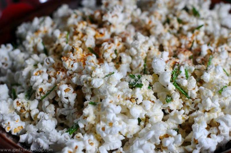 Buttered Parmesan Chive Popcorn