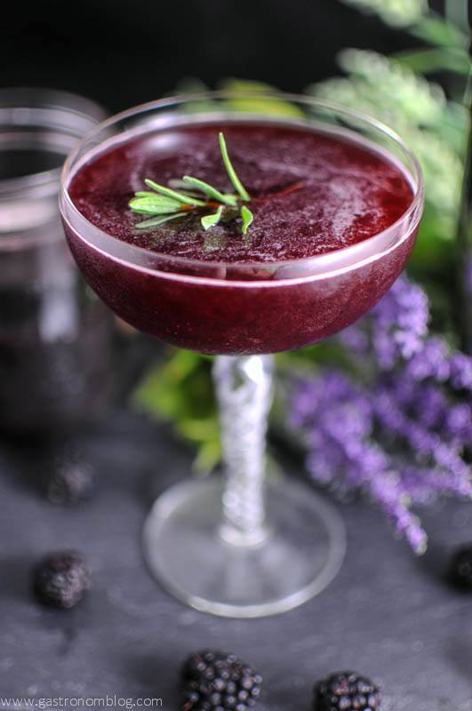 Brandy and Blackberry Lavender Shrub