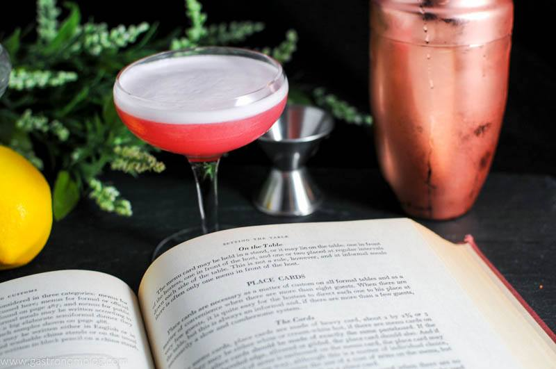 The Clover Club Cocktail - A gin and raspberry cocktail