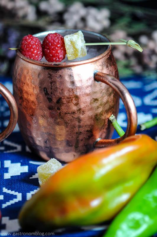 Hatch Chile and Raspberry Moscow Mule