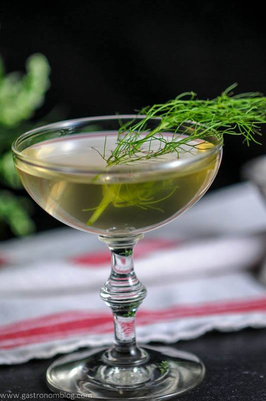 Rhubarb fennel gin cocktail