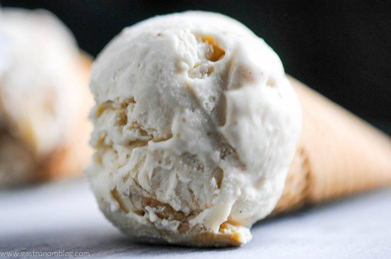 Bourbon and Peach No Churn Ice Cream