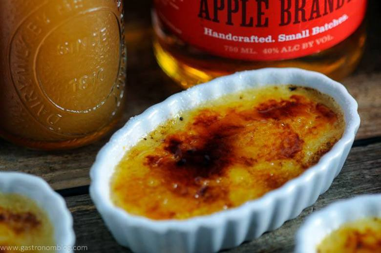 Apple Cider Brandy Creme Brulee