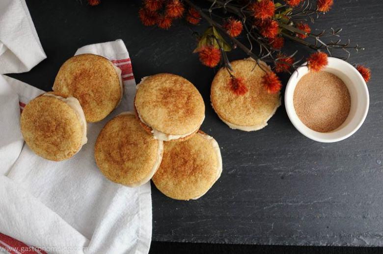 Pumpkin Spice Snickerdoodle Whoopie Pies