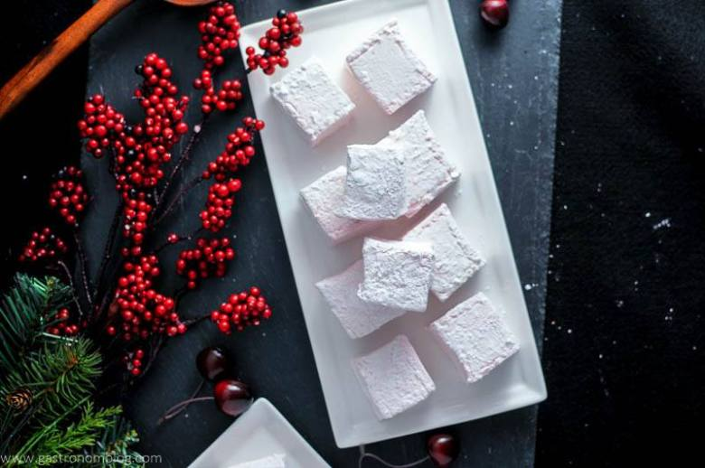 Cherry Amaretto Boozy Marshmallows