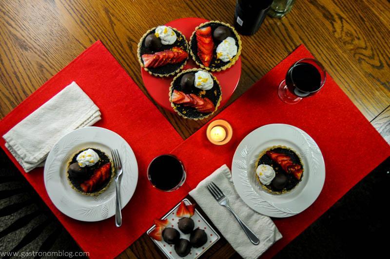Chocolate Bourbon Tart with Strawberries
