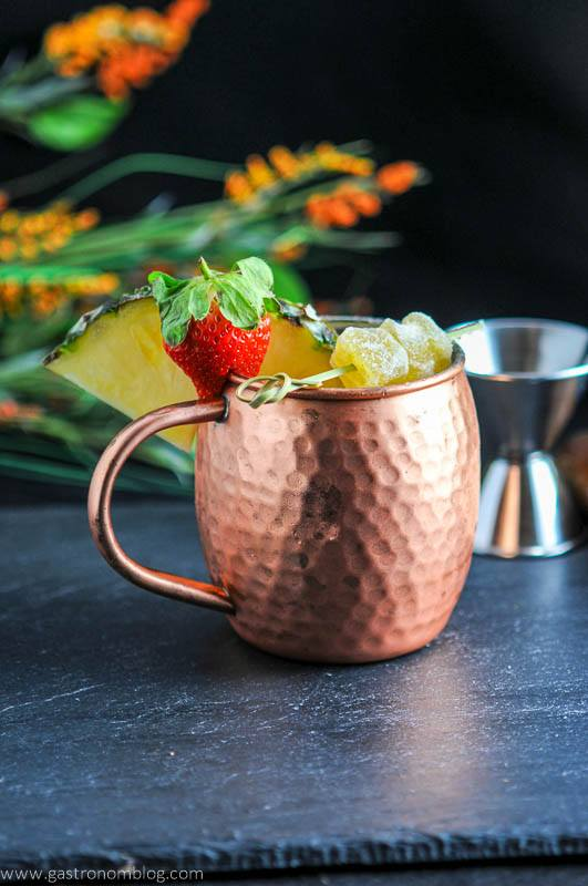 Spicy Pineapple Strawberry Moscow Mule