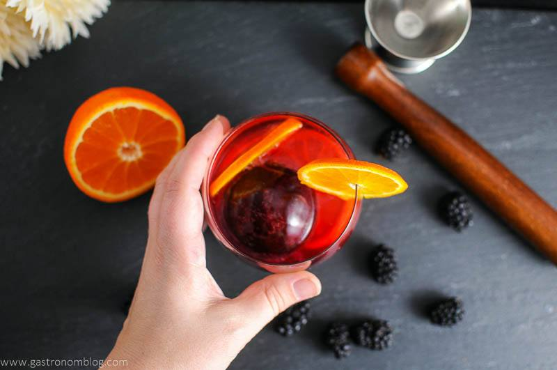 Blackberry Tangerine Vodka Tonic Cocktail