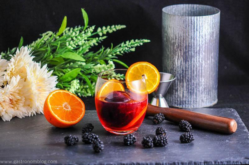 Blackberry Tangerine Vodka Tonic Cocktail
