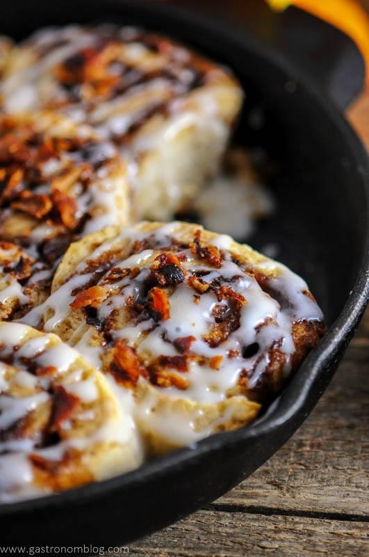 Bourbon Bacon Cinnamon Rolls