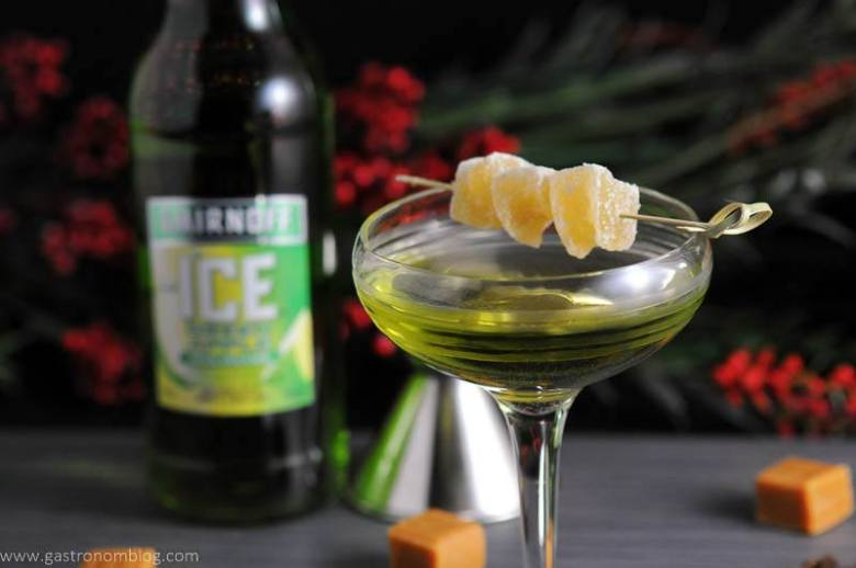 Smirnoff Ice Green Apple, Smirnoff Caramel vodka and ginger liqueur combine to make this delicious holiday cocktail!