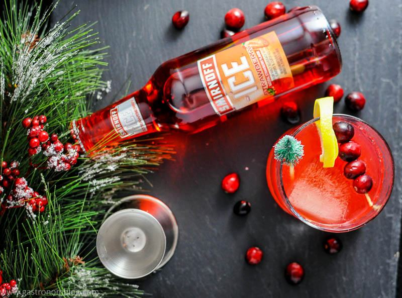THe Holiday Berry Sparkler Cocktail made with Smirnoff Ice Strawberry is a delghtful holiday cocktail.
