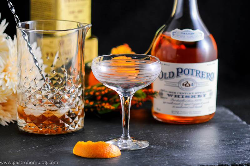 Earl Grey Manhattan featuring Anchor Distilling Old Potrero 18th Century Style Whiskey.