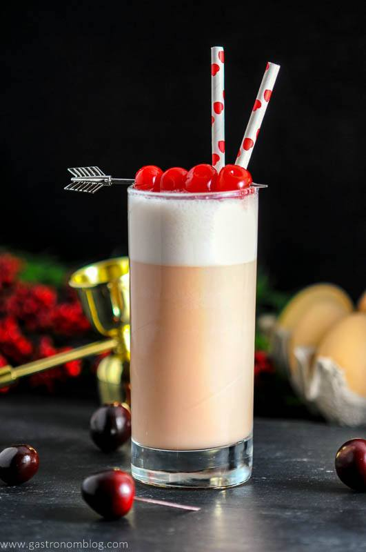 Cherry Toasted Cream Ramos Gin Fizz – A Gin Cocktail