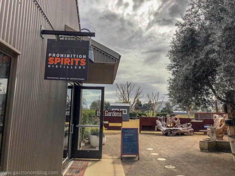Exterior shot of Prohibition Spirits Tasting Room in Sonoma, California