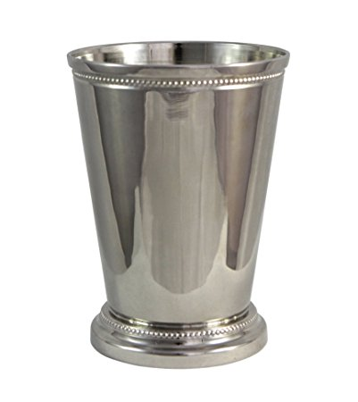Moscow Mule Mint Julep Cup - 12 Oz, Nickel Plate Beautifully Beaded Trim Edging Mint Julep Cups Capacity 12 Ounce by Alchemade