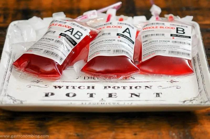 Blood Bag Spooky Cocktail