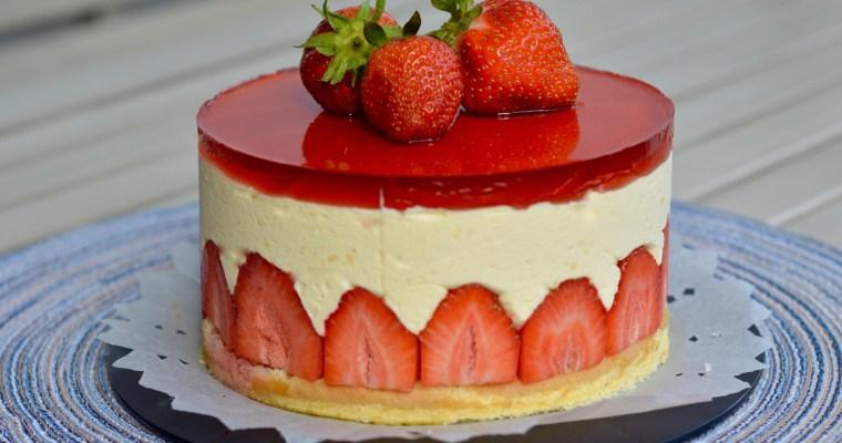 Classic Fraisier-Класическа френска ягодова Торта Фрезие