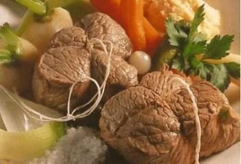 Bœuf à la ficelle et ses légumes