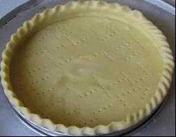 Cuisson d'un fond de tarte à blanc