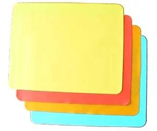 Feuilles de cuisson en silicone multicolores