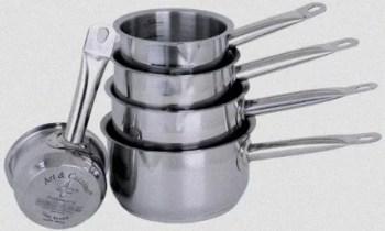 Série de casseroles en inox