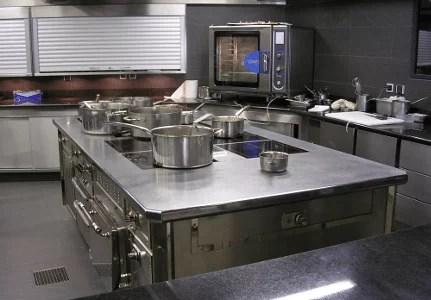 cuisine en u avec ilot central