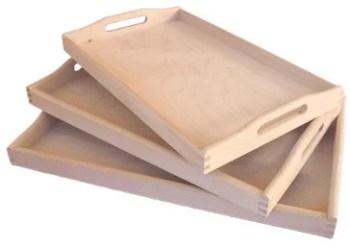 Plateau de service en bois mouluré