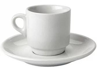 Tasse à café en porcelaine blanch