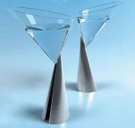 Verres à cocktail design