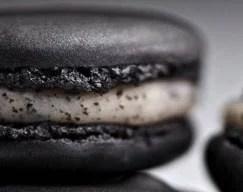 Macaron à la truffe noire