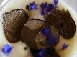 Truffe noire du Périgord au bouillon acidulé