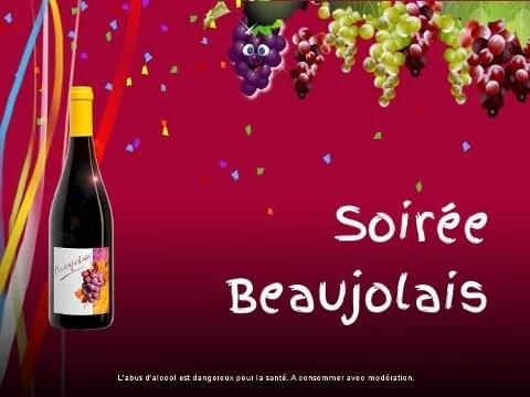 Affiche de soirée « Beaujolais »