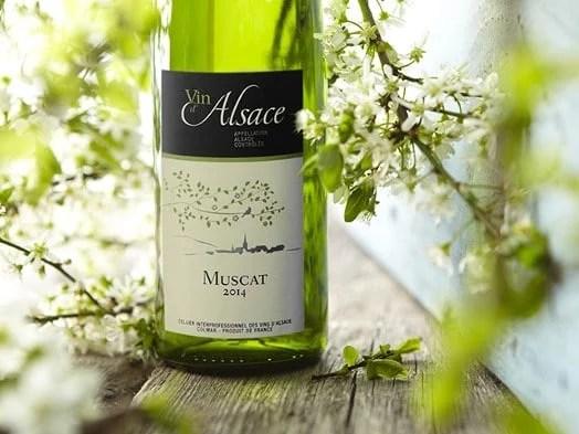 Bouteille de muscat d'Alsace 2014