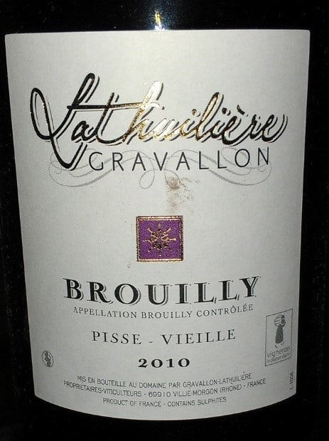 Brouilly Pisse-Vieille 2010