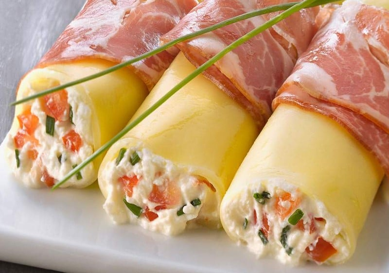 Cannellonis à la coppa farcis à la ricotta et à la tomate