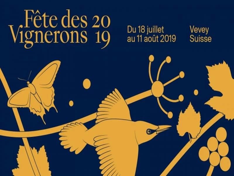 Affiche de la fête des vignerons 2019