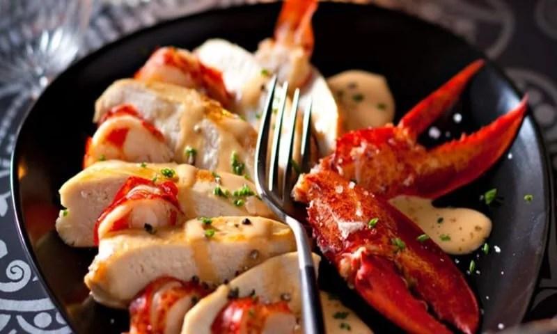 Duo de poularde et homard