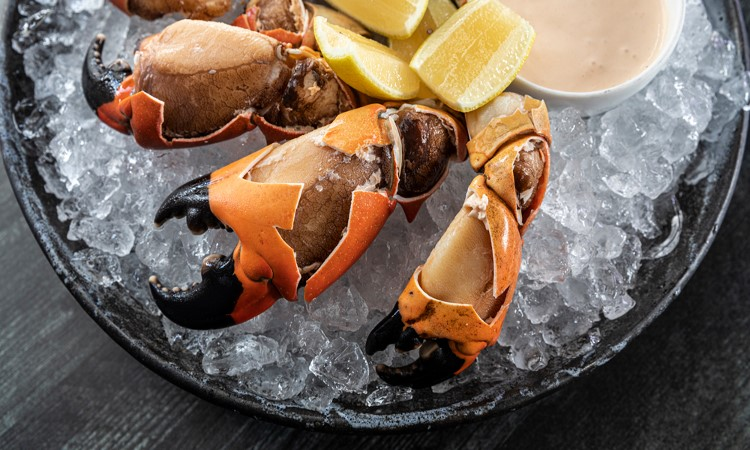 Pinces de crabe sauce calypso