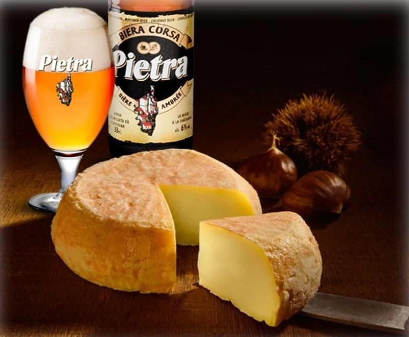 Bière Pietra et fromage corse